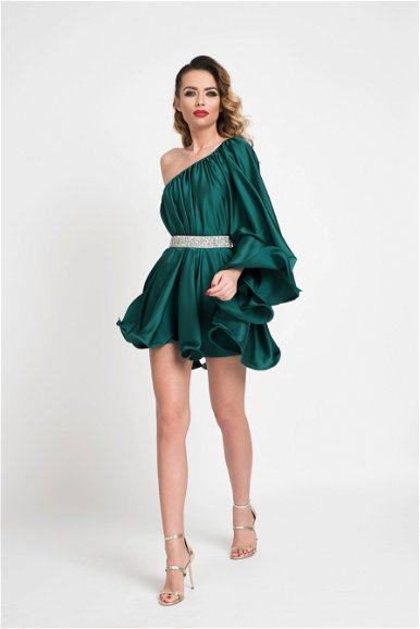 Rochie scurta Butterfly One Green