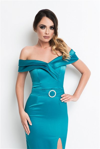 Rochie lunga Yvette Turquoise