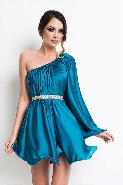 Rochie scurta Butterfly One Turquoise